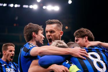 Atalanta fußballmannschaft 2020 in der Champions League
