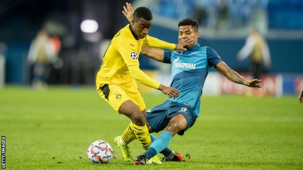 Zenit St Petersburg 1-2 Borussia Dortmund: Youssoufa Moukoko becomes youngest CL player